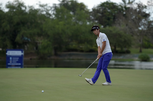 HUA-HIN-THAILAND- Yikuen Chang of Korea in action during the final round of the Asian Tour final stage qualifying school on Saturday, January 16, 2016, at the Springfield Royal Country Club, Hua Hin, Thailand. Picture by Paul Lakatos/Asian Tour.