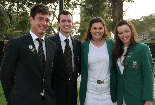 Ireland's quartet in Peru: (L-R) Colin Fairweather, Tiarnan McLarnon, Olivia Mehaffey and Chloe Ryan