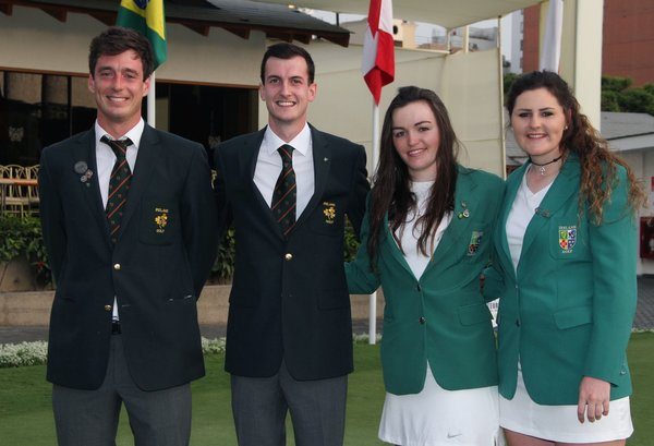 (L-R) Colin Fairweather, Tiarnan McLarnon, Chloe Ryan and Olivia Mehaffey pictured in Lima, Peru, January 2016