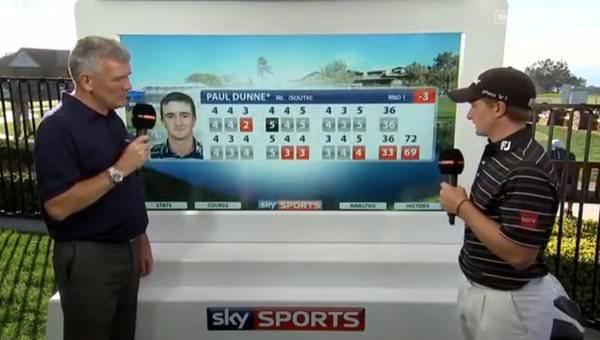 Paul Dunne speaks to Tim Barter of Sky Sport.