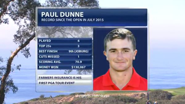 Paul Dunne has made a great start to his professional career