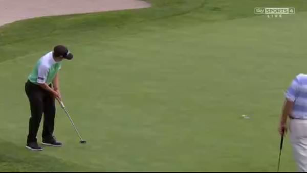 Paul Dunne birdies the 18th