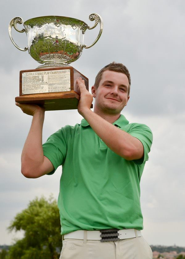 Jack Hume with the South African Amateur Strokeplay Championship trophy