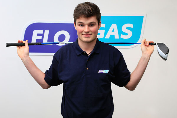Cormac Sharvin at the announcement of Flogas as his first commercial sponsor. Picture/Golffile