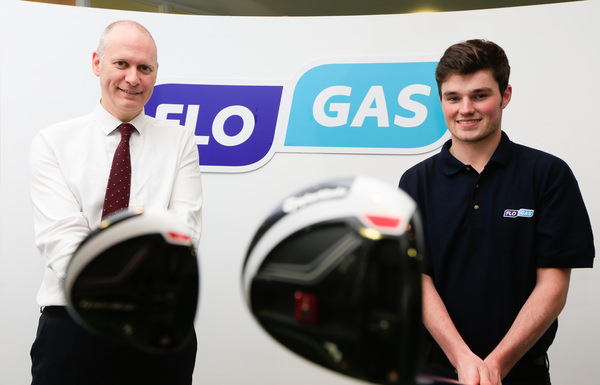 John Rooney, managing director, Flogas Ireland and Cormac Sharvin. Picture: Golffile