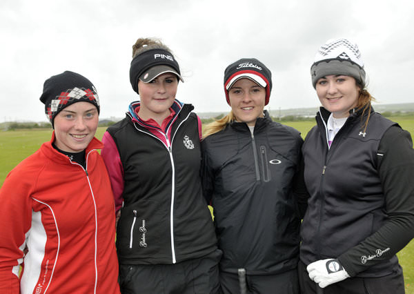 2013 Irish Close semi-finalists: Lisa Maguire (Slieve Russell), Olivia Mehaffey (Royal County Down Ladies), Jessica Carty (Hollywood) and Paula Grant (Lisburn). Picture by Pat Cashman