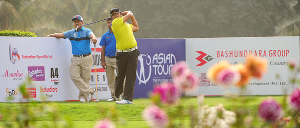 BANGLADESH: Thitiphun Chuayprakong of Thailand in action during second round at the Kurmitola Golf Club in Dhaka. PHOTO / ASIAN TOUR / KHALID REDZA