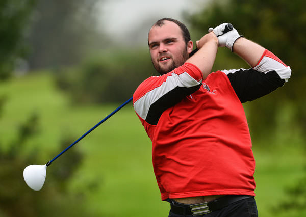 Jordan Hood (Galgorm Castle) driving at the 11th hole during the first day of matchplay at the 2015 Irish Amateur Close Championship at Tramore Golf Club (20/05/2015). Picture by Pat Cashman