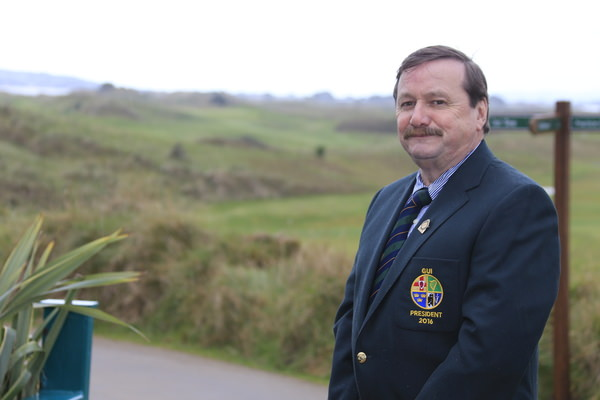 Golfing Union of Ireland President, Kevin McIntyre. Picture: Golffile