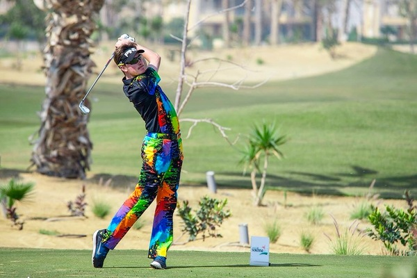 David Carey in action in round two of the Alps Tour's Red Sea Little Venice Open in Egypt