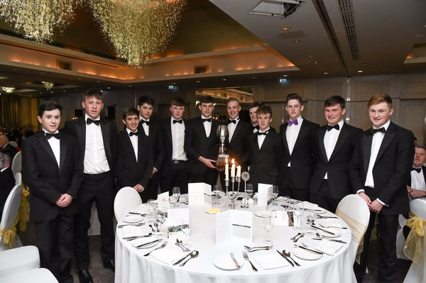 Fred Daly Trophy champions Kilkenny Golf Club at the GUI Champions Dinner, Carton House, Maynooth, Co. Kildare. Credit: Matt Browne / SPORTSFILE