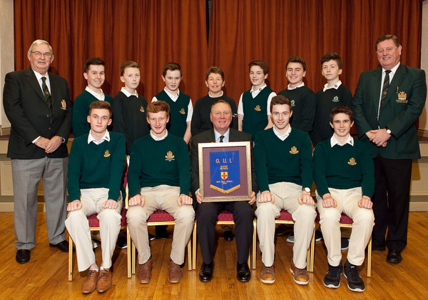 Fred Daly Ulster Champions Tandragee. Back Row (L-R) Rennell Gale, David Cunningham, Lewis Fox, Ross Taylor, Dympna Keenan (PGA Professional/Junior Convenor), Benjamin Boyd, Edward Rowe, Cameron Fox, Robert Megarity (Club President). Front Row(L-R) Jordan McKenzie, William Small (Junior Captain), Hamilton Loney (Club Captain), Jake Rowe, Peter Taylor.