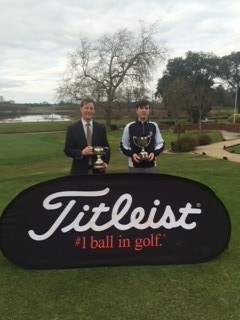 Winners Alan Neville and Andrew McCormack