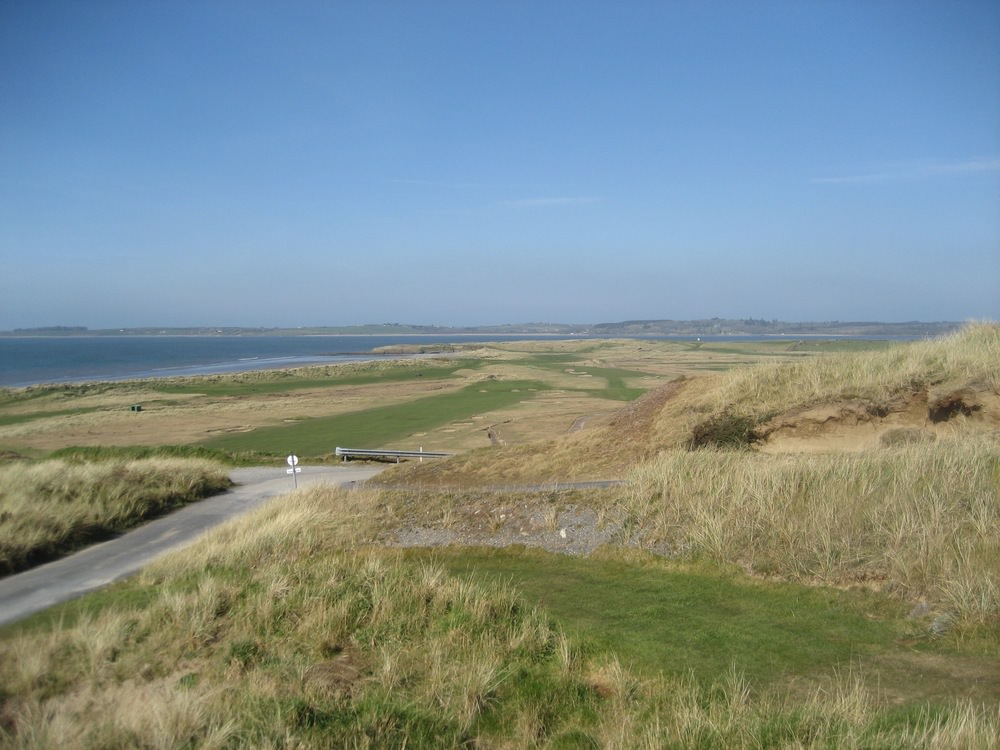 The view from the new fifth tee, situated right of the fourth green