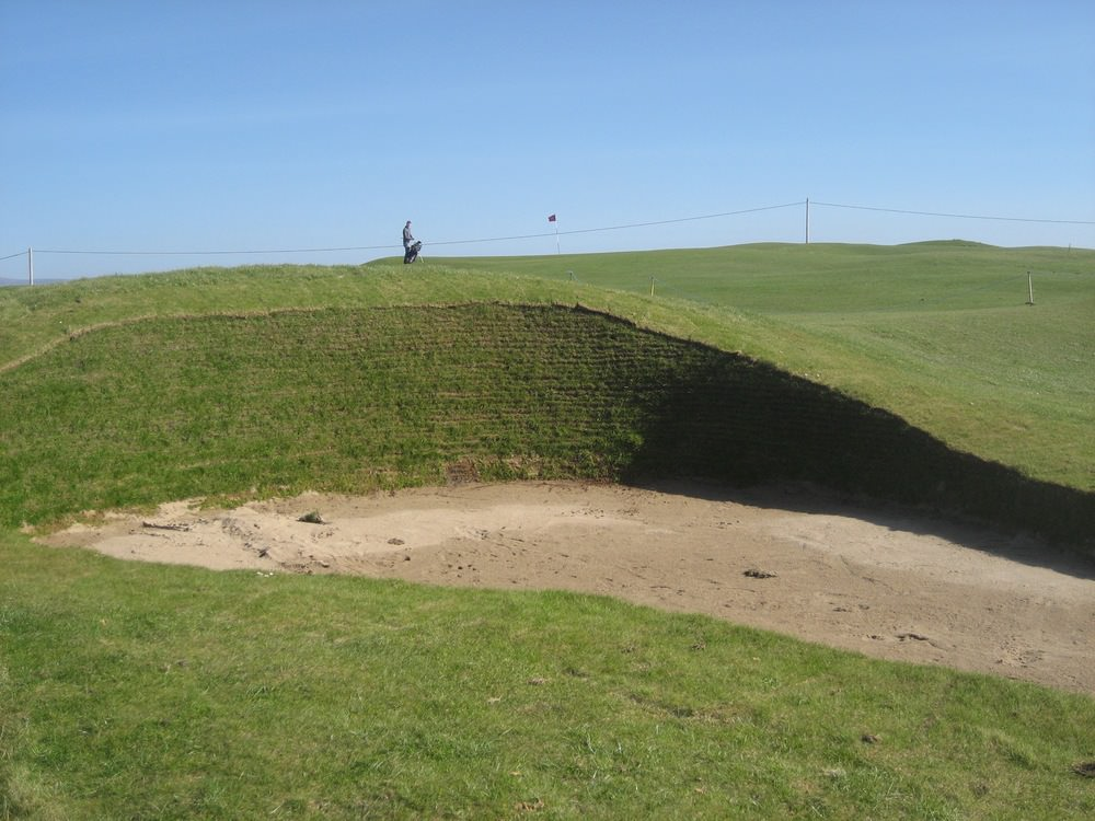 Fairway bunker at the 2nd