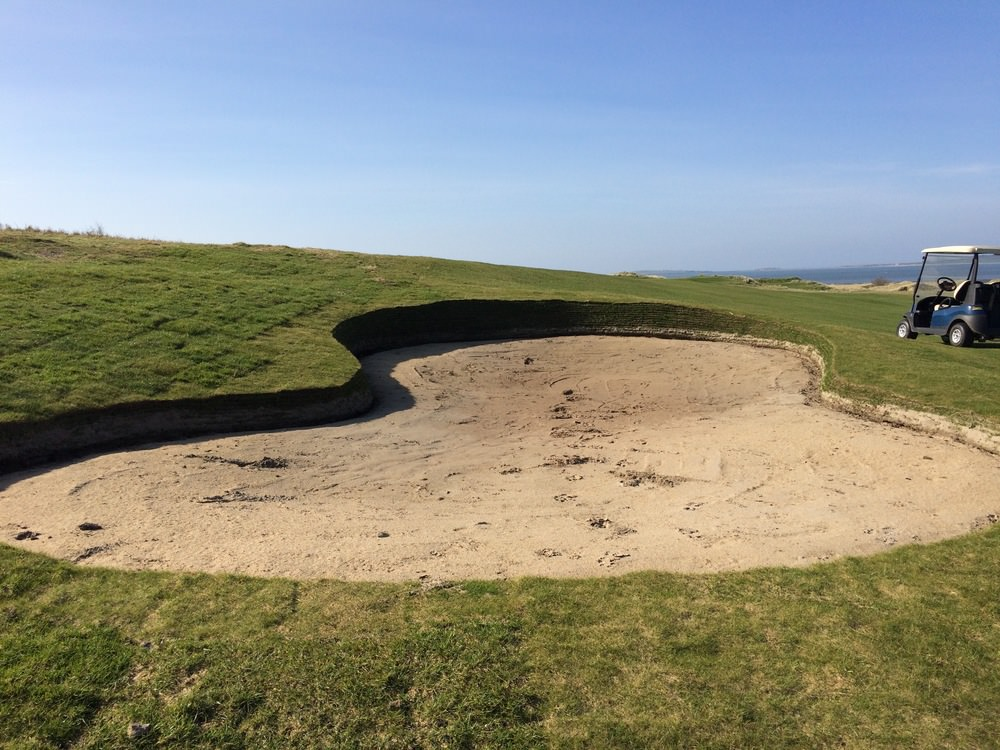 Fairway bunker at the 12th