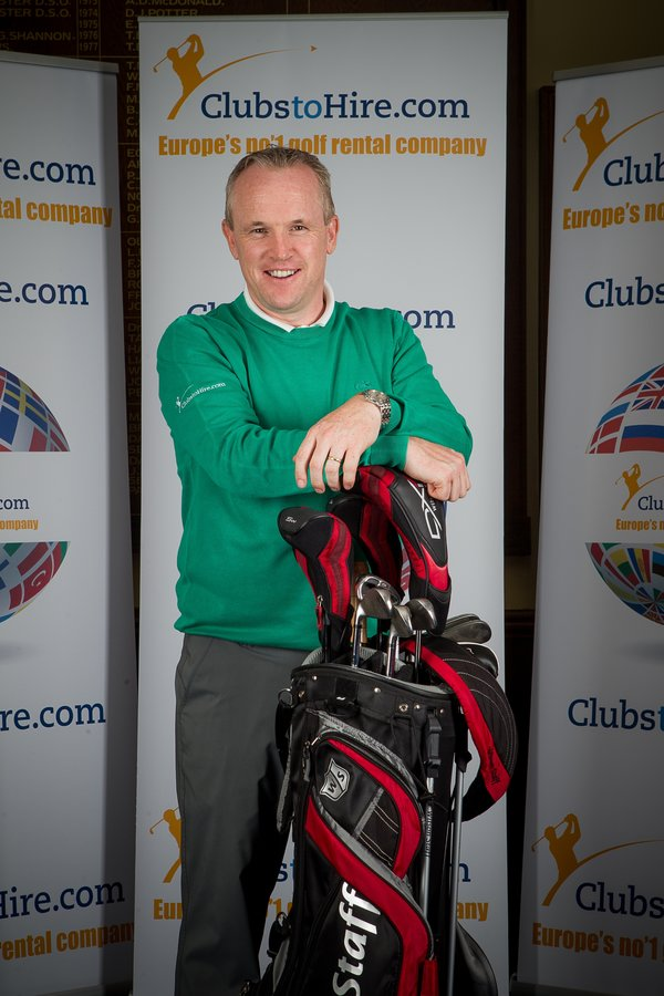 ClubstoHire.com CEO Tony Judge has taken over from Paul McGinley has the face of the company in publicity shots.