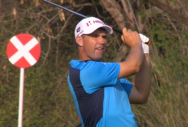Pádraig Harrington at Delhi Golf Club on Friday