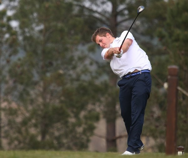 Jack Hume in action at the Bonallack Trophy