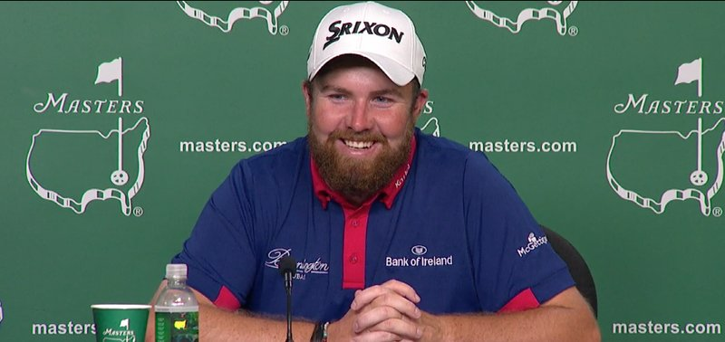 Shane Lowry speaks to the media after his opening 68 at The Masters