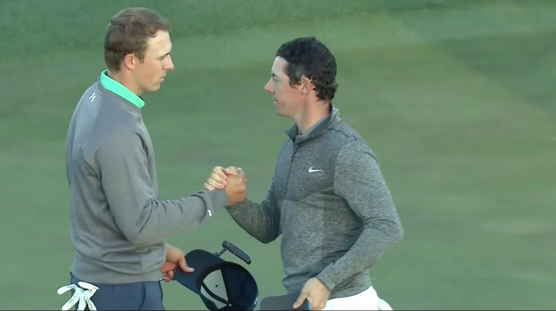 Rory McIlroy wishes Jordan Spieth the best of luck on Sunday