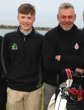 Mark Power (centre) at the Darren Clarke Champions weekend