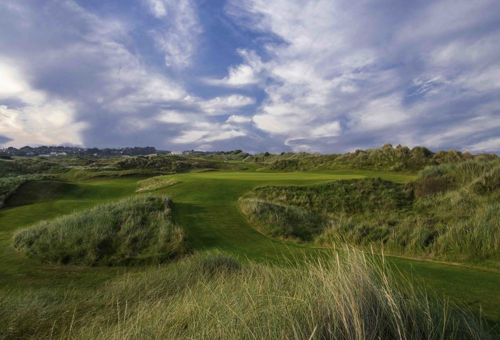 Resort hotel with a links course open to the public