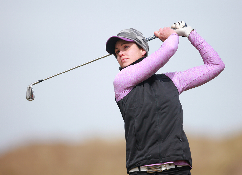 Maria Dunne (Skerries) during the Irish Women's Open Strokeplay at The Island. Picture: Ronan Lang