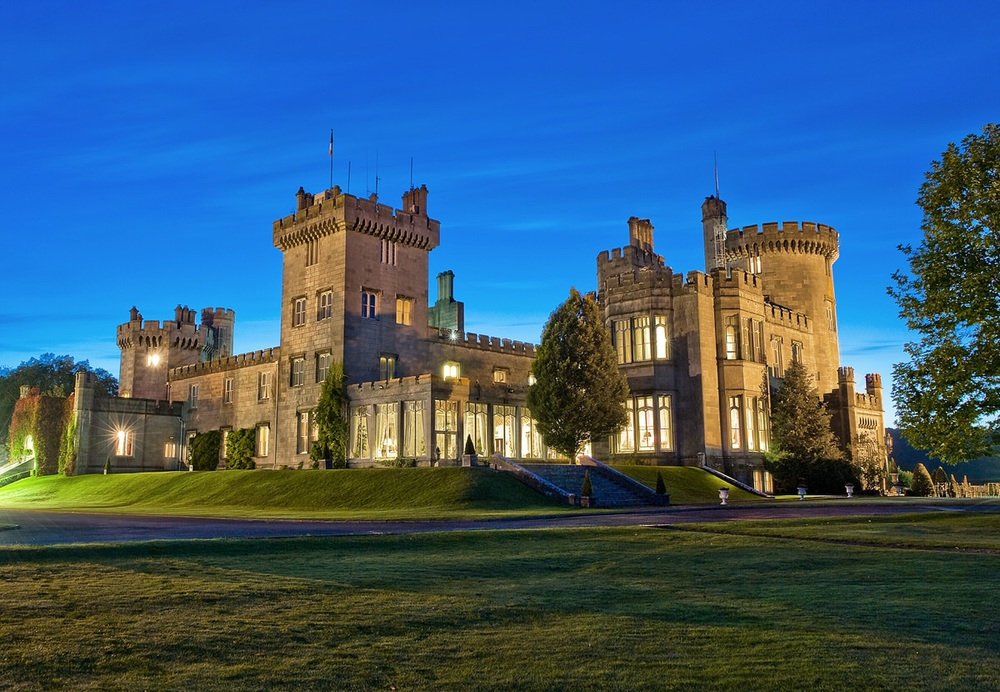Dromoland Castle at dusk