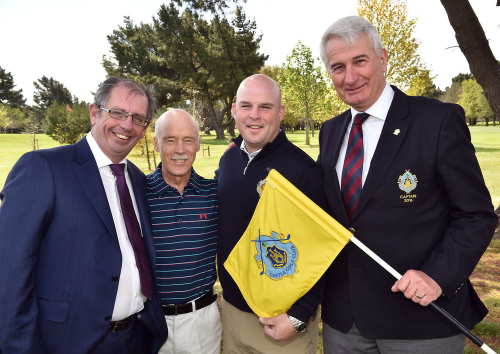 At a reception to announce the 2016 Cpl Resources All Ireland Father & Son Foursomes competition which will be held at the Castle Golf Club in July. From left Paul Carroll (CPL Resources), Michael and Stephen Finlan (2015 winners) and Paul Williams (Captain, Castle GC). Picture by  Pat Cashman