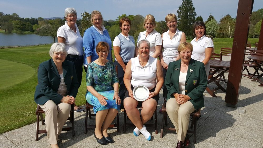 The ladies of Bangor with the Plate