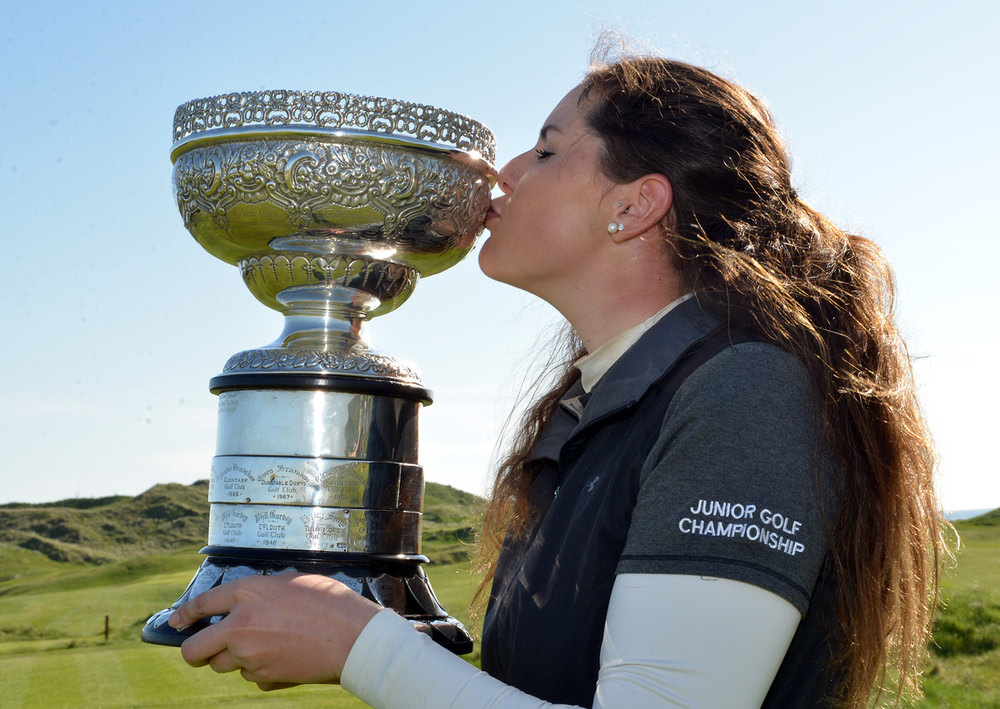 Olivia Mehaffey (Royal County Down Ladies) winner of the 2016 Irish Women's Close Amateur Championship at Lahinch Golf Club. Picture by  Pat Cashman
