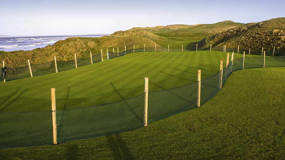 Ballybunion's Old Course during the green replacement phase. Picture via   Golf Course Architecture