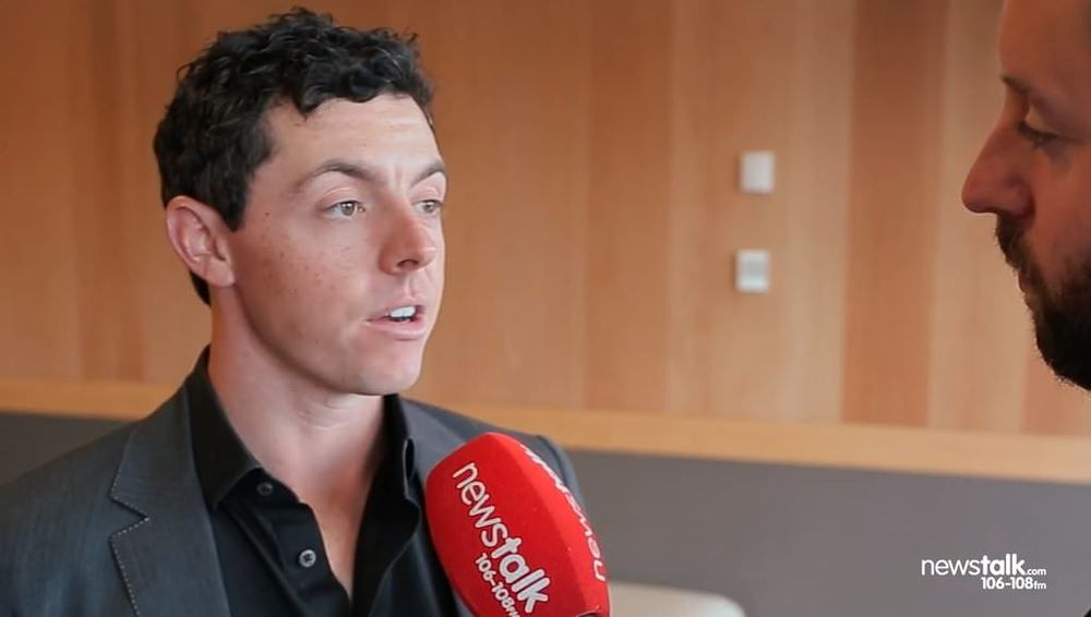Rory McIlroy speaking to Newstalk's Nathan Murphy on Tuesday