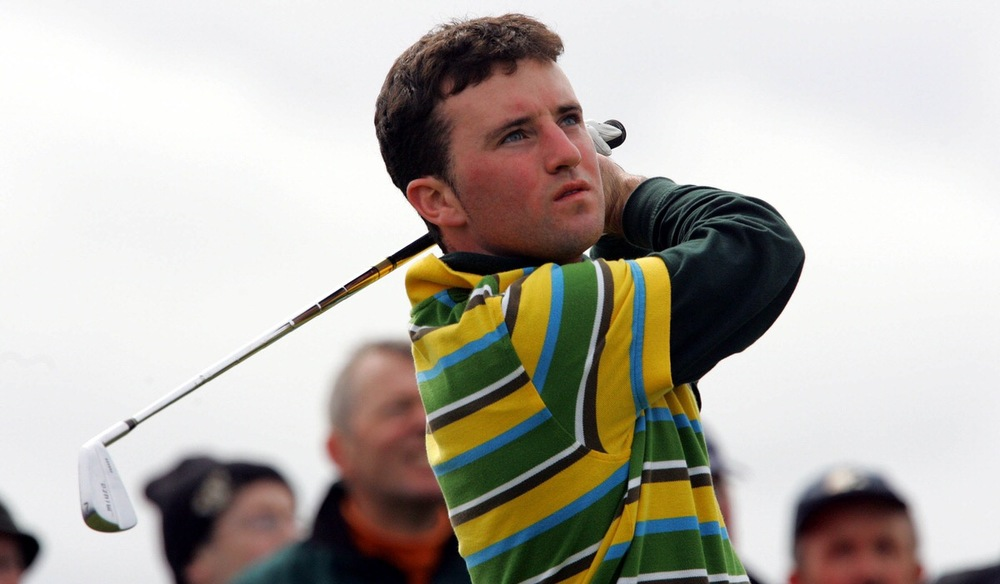 A young Paul O'Hanlon in the 2006 West of Ireland final against Rory McIlroy at Rosses Point