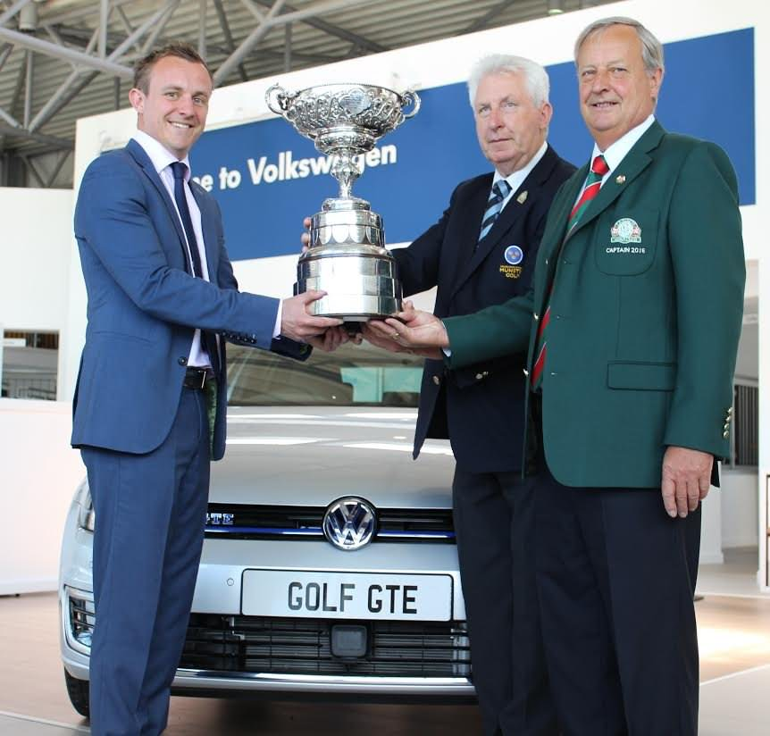 Left to right, Gary Pierse, Managing Director Pierse Motors; John Moloughney, Chairman Munster Branch GUI and Gerry Pierse, Captain Lahinch Golf Club
