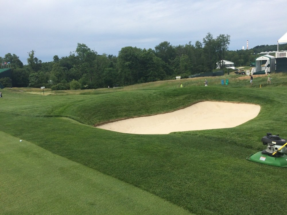 The fairways bunkers are gathering more balls than in the past.