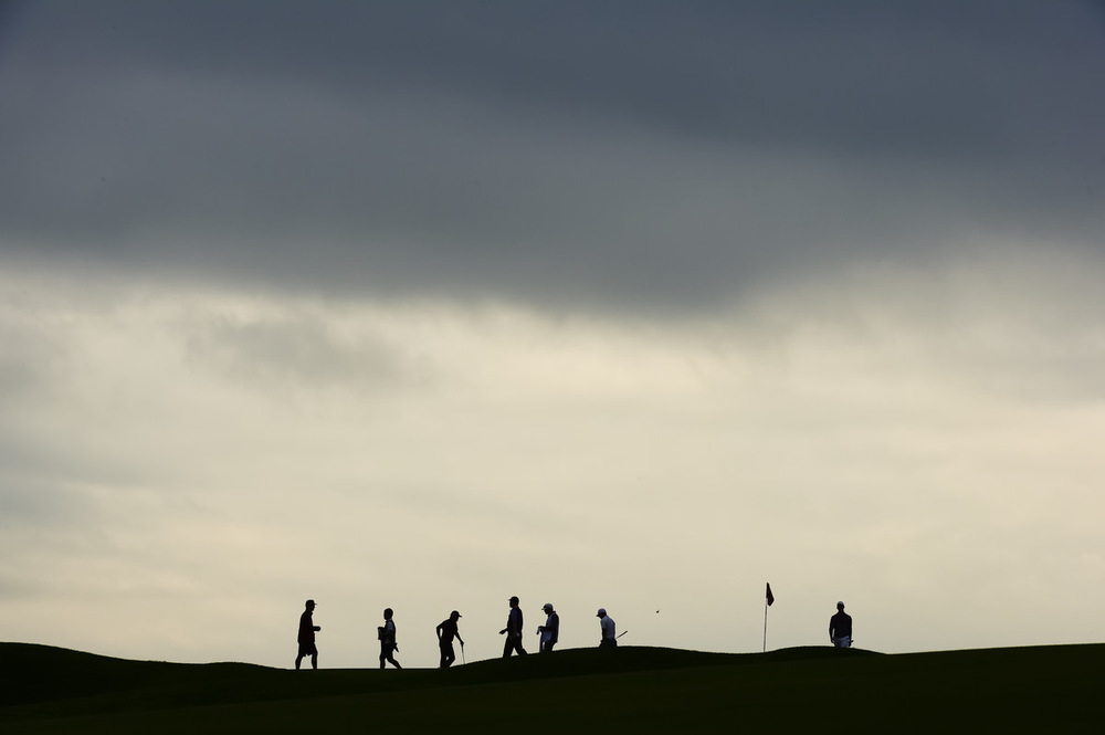 Scene at the 17th green during the first round for the 2016 U.S. Open at Oakmont Country Club in Oakmont, Pa. on Friday, June 17, 2016. (Copyright USGA/Fred Vuich)