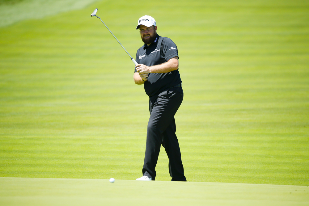 Shane Lowry misses a birdie putt on the first hole during the second round of the 2016 U.S. Open at Oakmont Country Club in Oakmont, Pa. on Saturday, June 18, 2016. (Copyright USGA/Jeff Haynes)