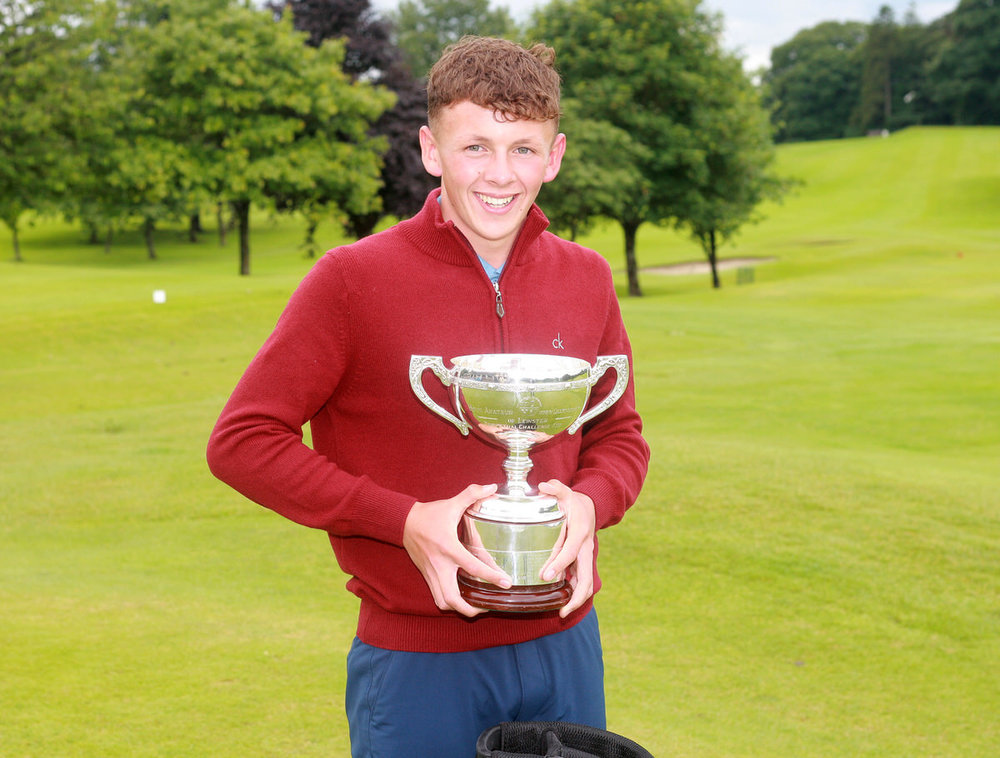 Leinster Boys' Open champion John Brady (Rosslare). Picture: Ronan Temple Lang