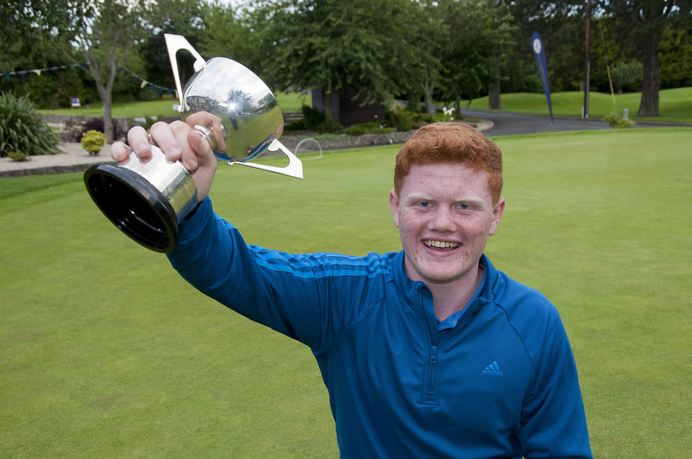 Josh Mackin (Dundalk) winner of the Leinster Boys Under 16 Open Championship at Beaverstown Golf Club.Picture: Ronan Quinlan