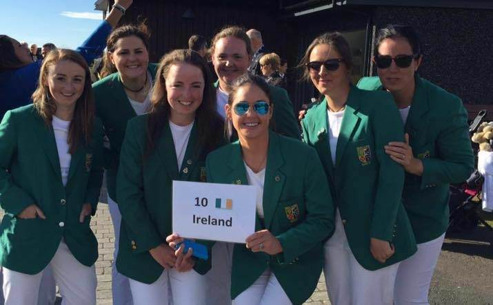 The Irish women's team at the opening ceremony.