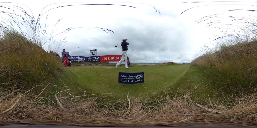 Pádraig Harrington tees off at the 12th. Picture: Getty Images