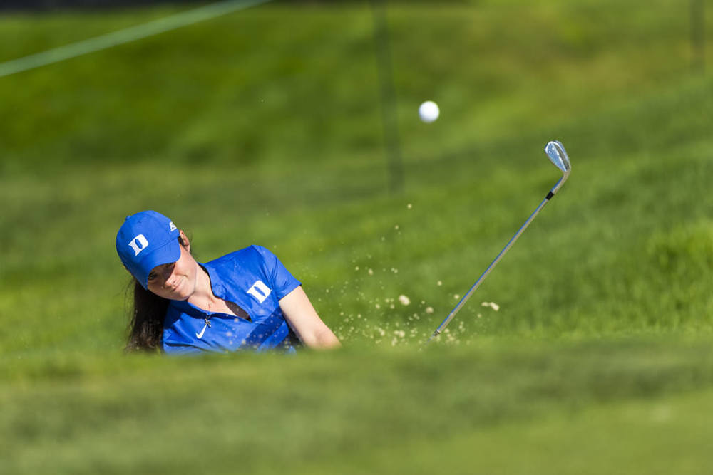 Leona Maguire plays out of a bunker on the fourth hole during a practice round ahead of the 2016 U.S. Women's Open at CordeValle  in San Martin, Calif. on Wednesday, July 6, 2016. ©USGA/Steven Gibbons