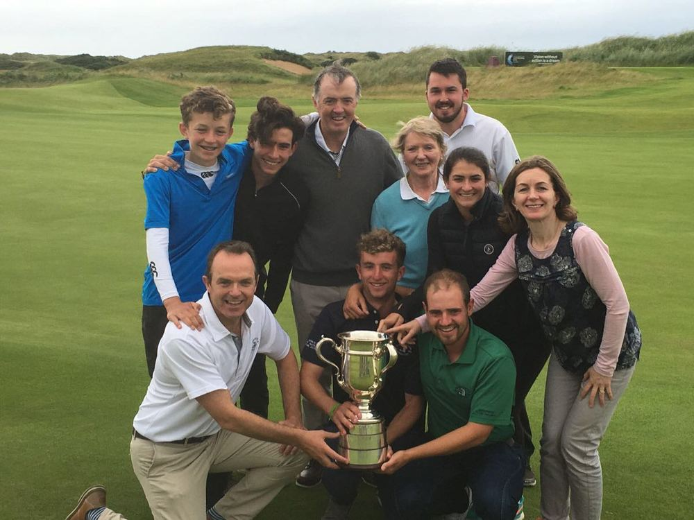 Sean Flanagan and his family celebrate at Royal Portrush. Picture courtesy Sean Flanagan