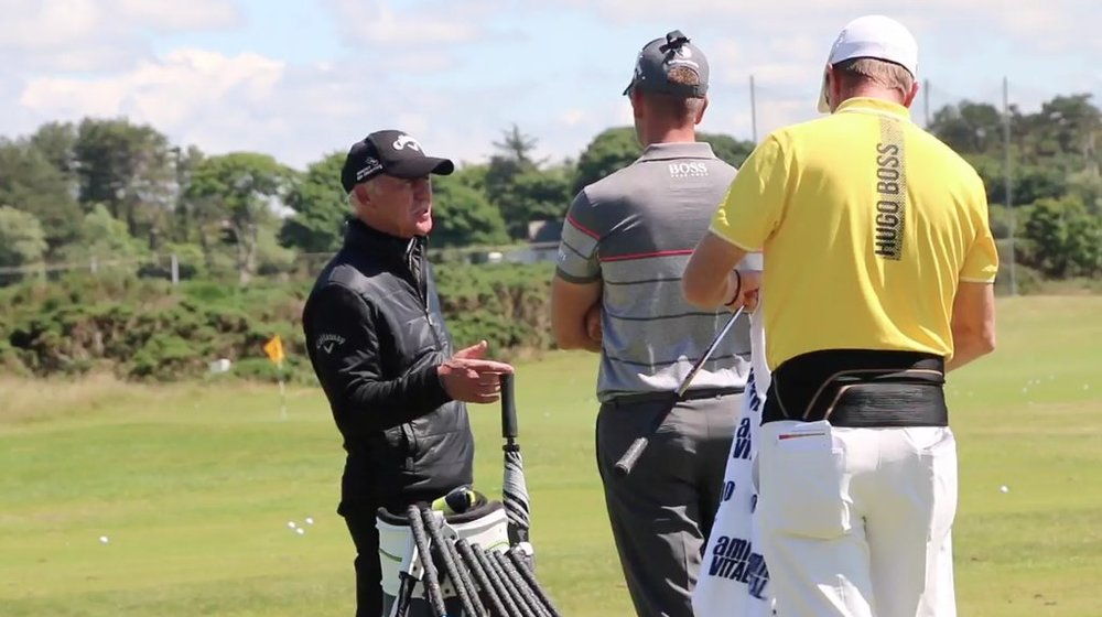 Pete Cowen and Henrik Stenson at Royal Troon