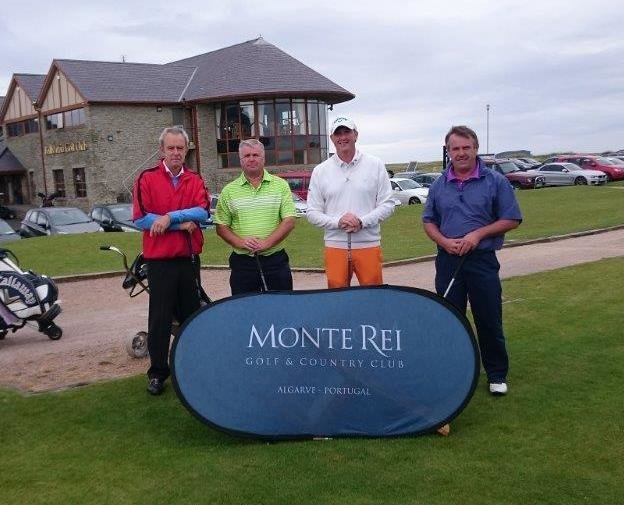 David Ryan (Cahir Park GC) and amateurs partners Francis McCarthy, Noel Finn and James McCarthy who won a trip to Monte Rei Resort at the Ballyliffin Pro-Am