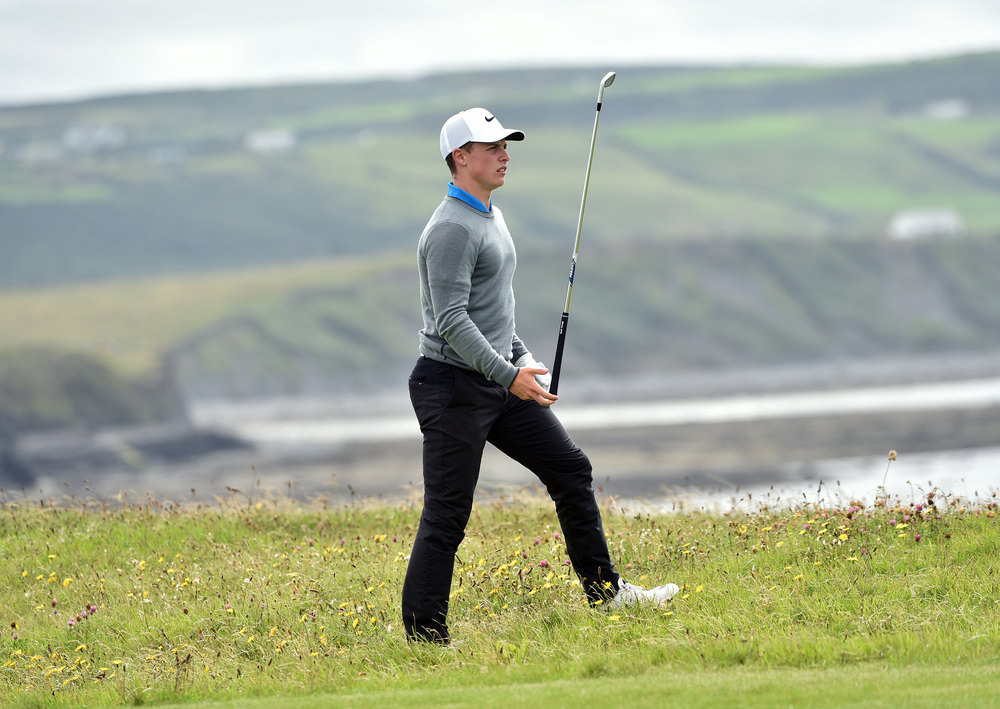 Conor Purcell (Portmarnock)  during the final round of the 2016 South of Ireland Championship at Lahinch Golf Club. Picture by  Pat Cashman