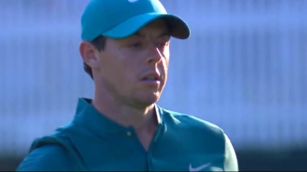 Rory McIlroy after holing a 40 footer