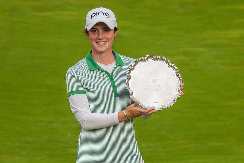 Leona Maguire with the Smyth Salver